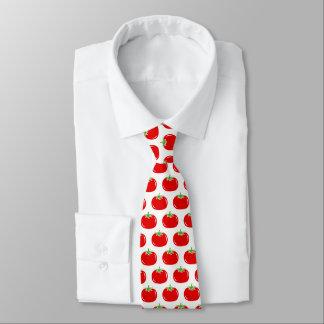 おもしろいで赤いトマトパターンカスタムな首のタイ ネクタイ