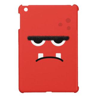 おもしろいで赤いモンスターの顔 iPad MINIケース
