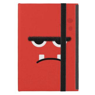おもしろいで赤いモンスターの顔 iPad MINI ケース