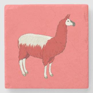 おもしろいで赤いラマ ストーンコースター
