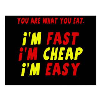 おもしろいで速く安く容易なTシャツのギフト ポストカード