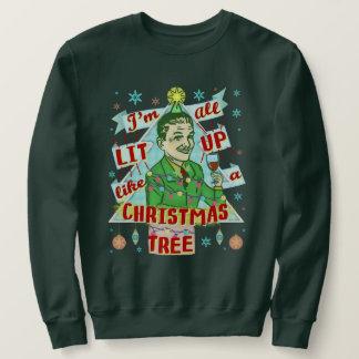 おもしろいで醜いクリスマスのセーターのレトロの飲む人 スウェットシャツ