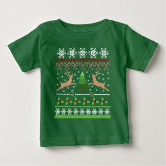 おもしろいで醜いクリスマスのセーター ベビーTシャツ