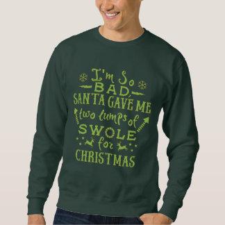 おもしろいで醜いクリスマスのトレーニングの重量挙げ選手のエクササイズ スウェットシャツ