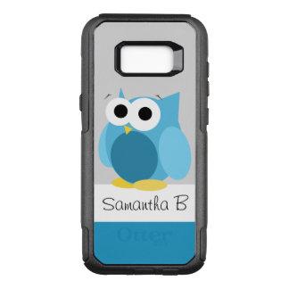 おもしろいで青いフクロウの名前入りなSamsungの銀河系S8 オッターボックスコミューターSamsung Galaxy S8+ ケース