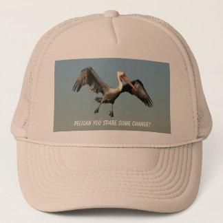 おもしろいで飛んでいるなペリカンのトラック運転手の帽子のユーモア キャップ