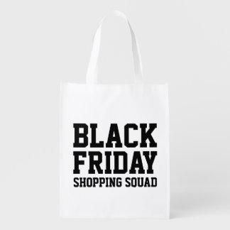 おもしろいで黒い金曜日の再使用可能な食料雑貨の買い物袋 エコバッグ