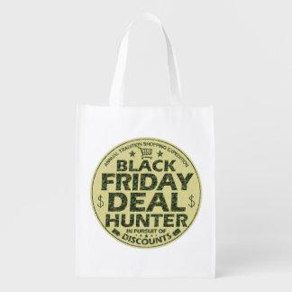 おもしろいで黒い金曜日の取り引きのハンターの割引ショッピング エコバッグ