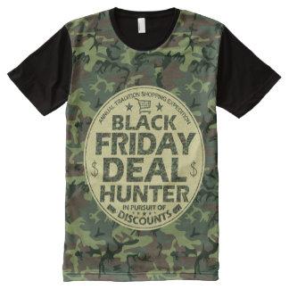 おもしろいで黒い金曜日の取り引きのハンターの割引ショッピング オールオーバープリントT シャツ