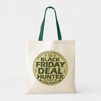おもしろいで黒い金曜日の取り引きのハンターの割引ショッピング トートバッグ