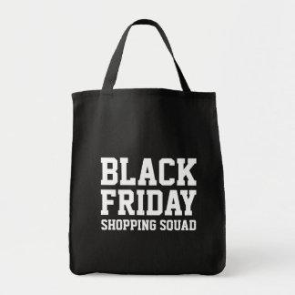 おもしろいで黒い金曜日の食料雑貨ショッピングのトートバック トートバッグ