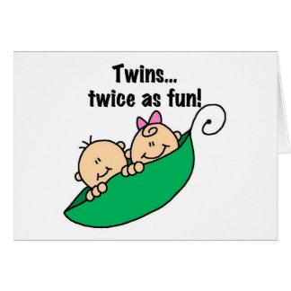 おもしろいとして二度エンドウ豆の鞘の双生児 カード