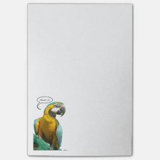おもしろいなおしゃべりオウムのノート ポストイット