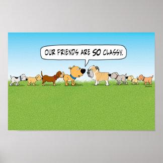 おもしろいなお尻のくんくんかぐ犬ポスター ポスター