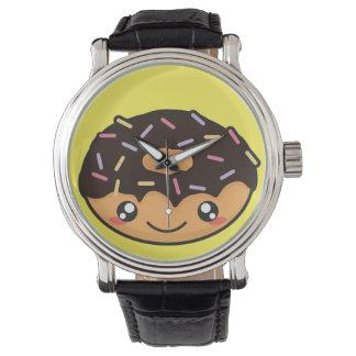 おもしろいなかわいいおよびクールなドーナツ 腕時計
