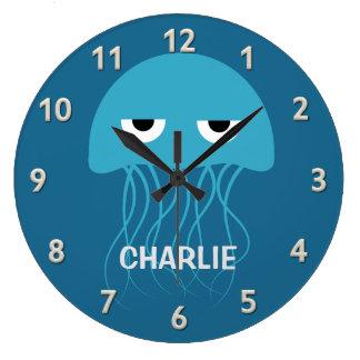 おもしろいなくらげのカスタムな柱時計 ラージ壁時計
