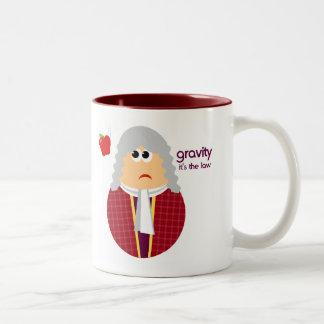 おもしろいなアイザックニュートンのマグのギフト ツートーンマグカップ