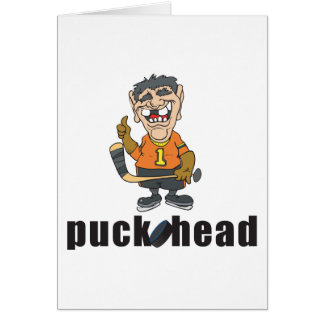 おもしろいなアイスホッケー用パックの頭部 カード