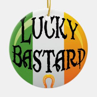 おもしろいなアイルランドのクリスマスのオーナメント セラミックオーナメント