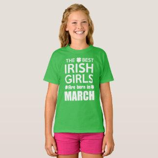 おもしろいなアイルランドの女の子生まれる3月 Tシャツ