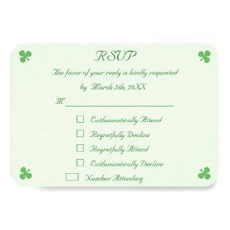 おもしろいなアイルランドの緑の結婚RSVPの招待状カード カード