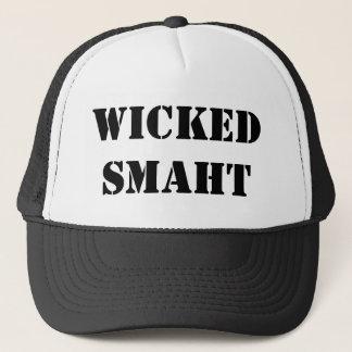 おもしろいなアクセントのヤンキー悪賢く頭が切れるなSmaht Bostonian キャップ