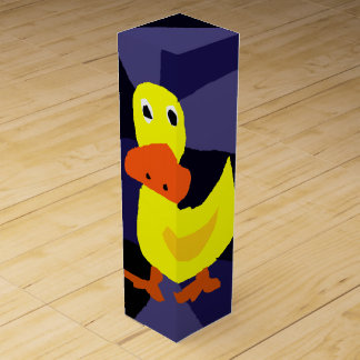おもしろいなアヒルの芸術のワイン用化粧箱 ワインギフトボックス