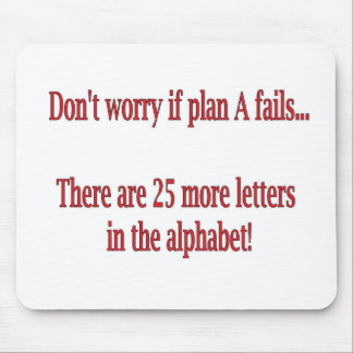 おもしろいなアルファベットの引用文 マウスパッド