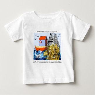 おもしろいなイルカ安全なテューバ ベビーTシャツ