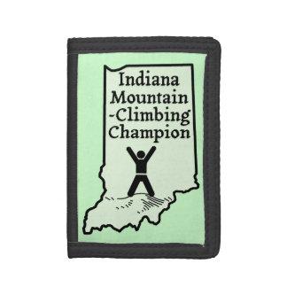 おもしろいなインディアナ山の登山のチャンピオン ナイロン三つ折りウォレット
