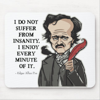 おもしろいなエドガー・アラン・ポーの引用のマウスパッド マウスパッド