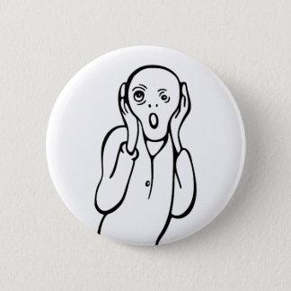 おもしろいなエドヴァルド・ムンクの叫びのパロディの漫画 缶バッジ