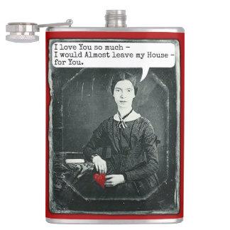 おもしろいなエミリー・ディキンソンのバレンタインデーの詩人のユーモア フラスク