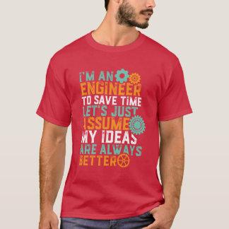 おもしろいなエンジニアリングのユーモアのTシャツ私はエンジニアです Tシャツ