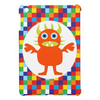 おもしろいなオレンジモンスターの創造物明るい色のブロック iPad MINI カバー