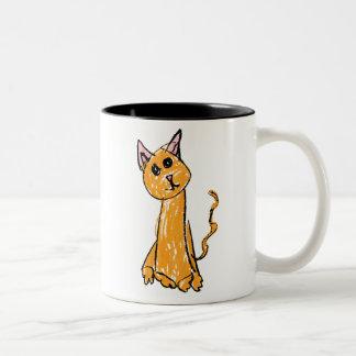おもしろいなオレンジ猫 ツートーンマグカップ
