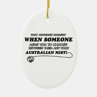おもしろいなオーストラリアの霧のデザイン セラミックオーナメント