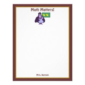 おもしろいなカウントのゴリラの数学のカスタム レターヘッド