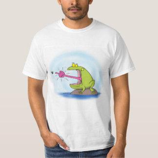 おもしろいなカエルの漫画 Tシャツ
