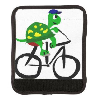 おもしろいなカメの乗馬の自転車 ラゲッジ ハンドルラップ