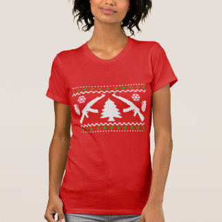 おもしろいなカラシニコフ自動小銃の醜いクリスマスのセーター Tシャツ
