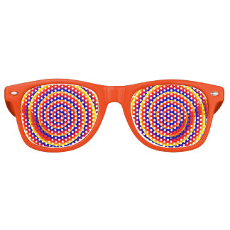 おもしろいなカラフルな螺線形の催眠性の目の錯覚 サングラス