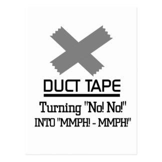 おもしろいなガムテープのデザイン はがき