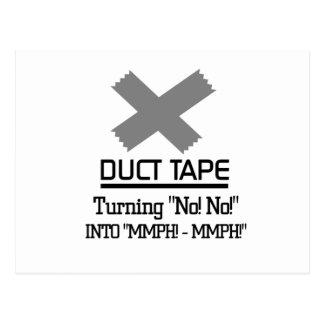 おもしろいなガムテープのデザイン ポストカード