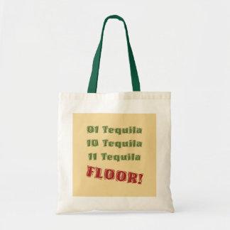 おもしろいなギークの真面目な二進テキーラの飲むからかい トートバッグ