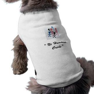 """おもしろいなギーク犬のワイシャツ""""Ne Humanus Crede """" ペット服"""