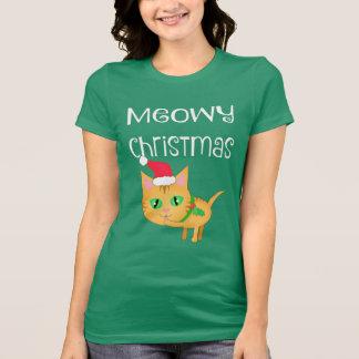 おもしろいなクリスマスの子猫の猫好きのTシャツ Tシャツ