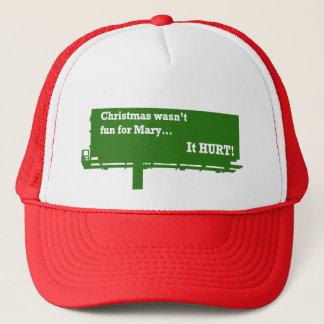 おもしろいなクリスマスの掲示板の帽子 キャップ