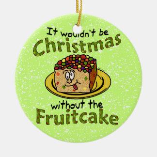 おもしろいなクリスマスの漫画のFruitcake セラミックオーナメント