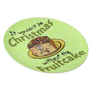 おもしろいなクリスマスの漫画のFruitcake プレート